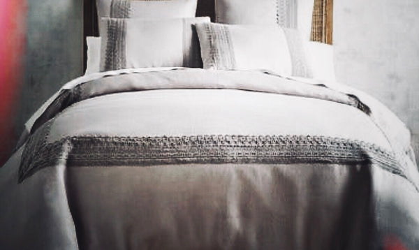 GREY LINEN SHEET SET INDIA