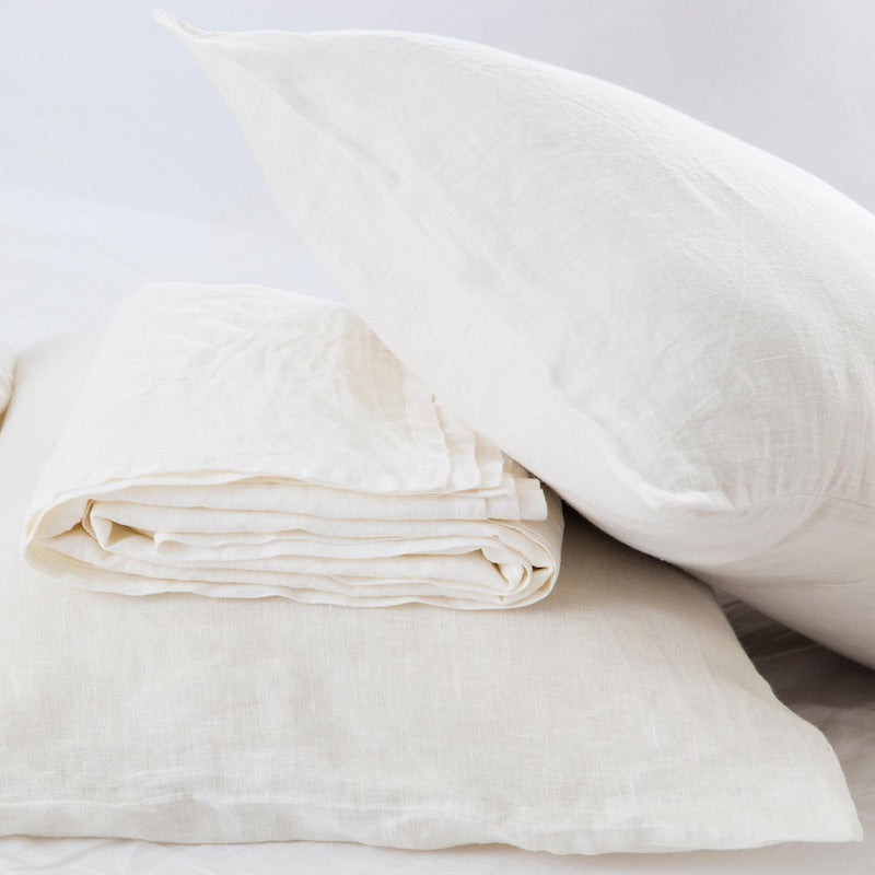 Vintage White - FLAX LINEN SHEET SET