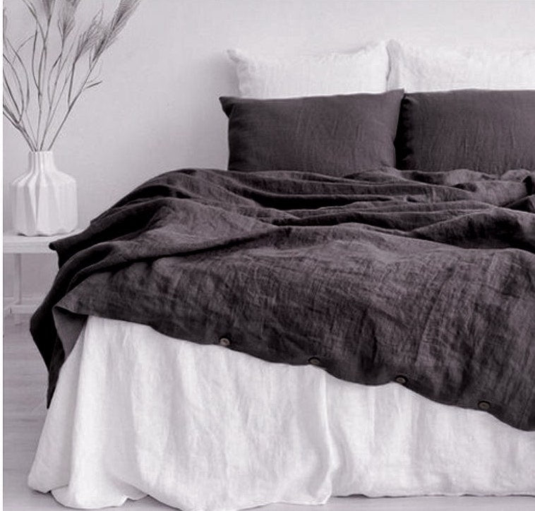 charcoal grey bedding India