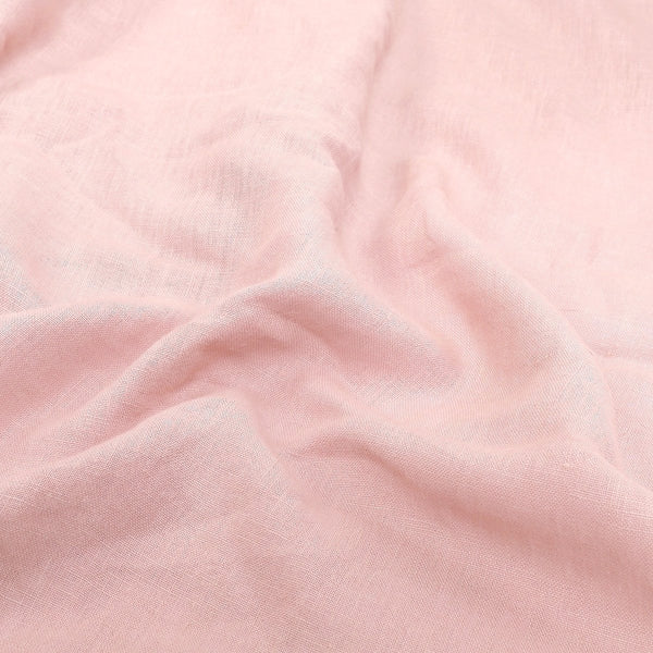 Rosé Stone-Washed Linen Duvet Cover