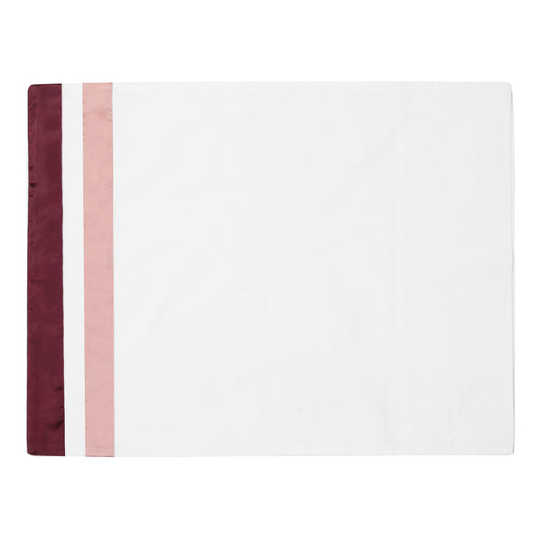 White + Satin Cabernet 400 TC PURE COTTON BED SHEET SET