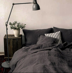 Slate grey bed sheets India