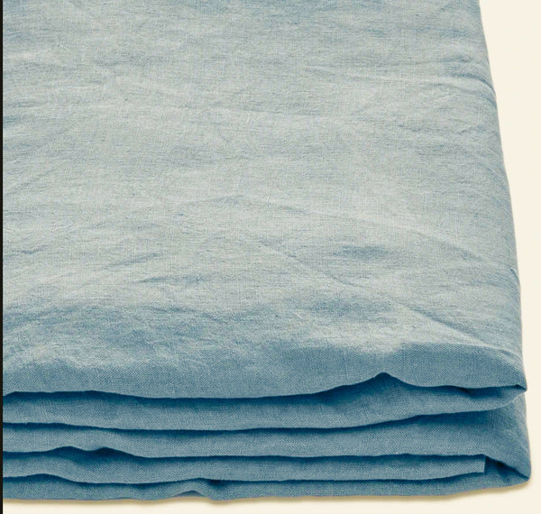 SHORE - PURE LINEN BEDDING SET IN BLUE