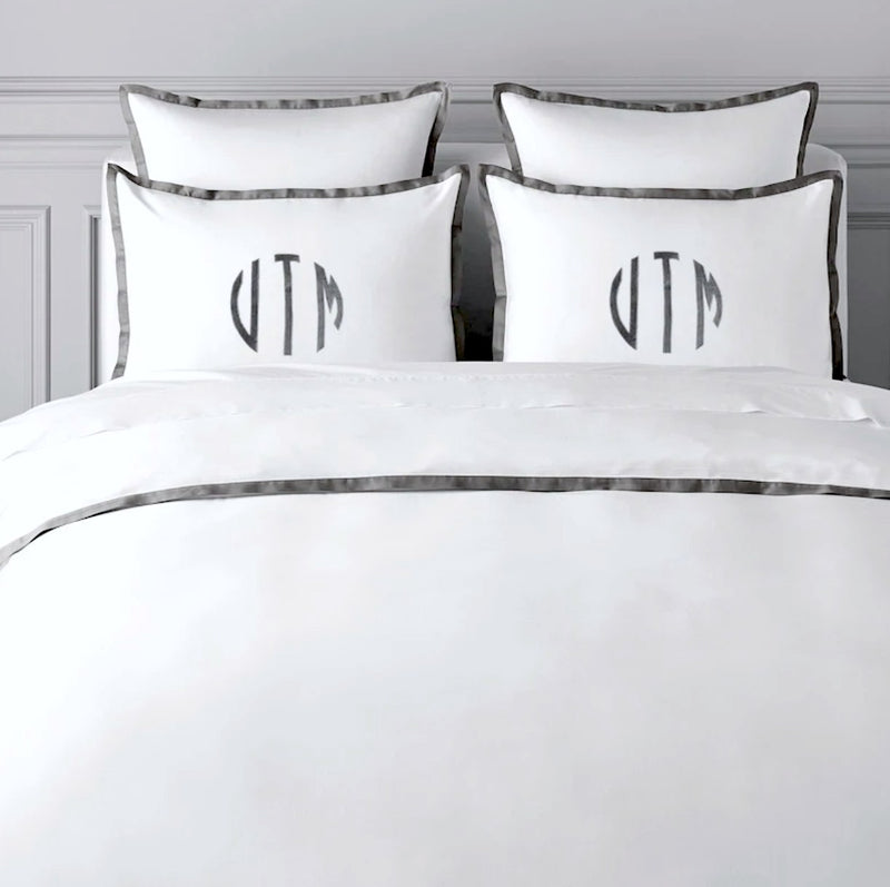 monogram bed sheets set india, monogram pillow cases