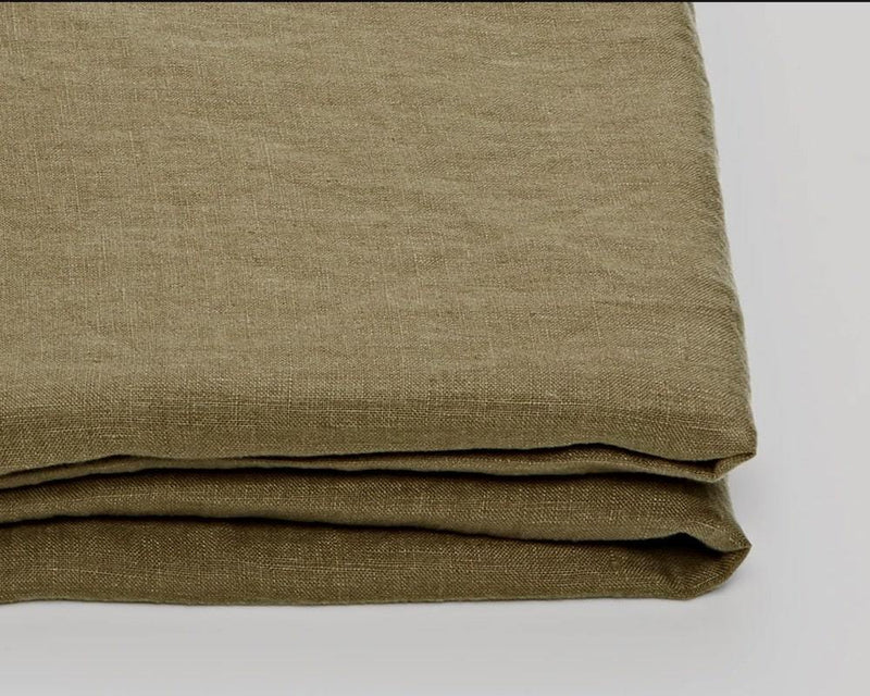 MOSS - PRE-SOFTENED PURE LINEN DUVET COVER