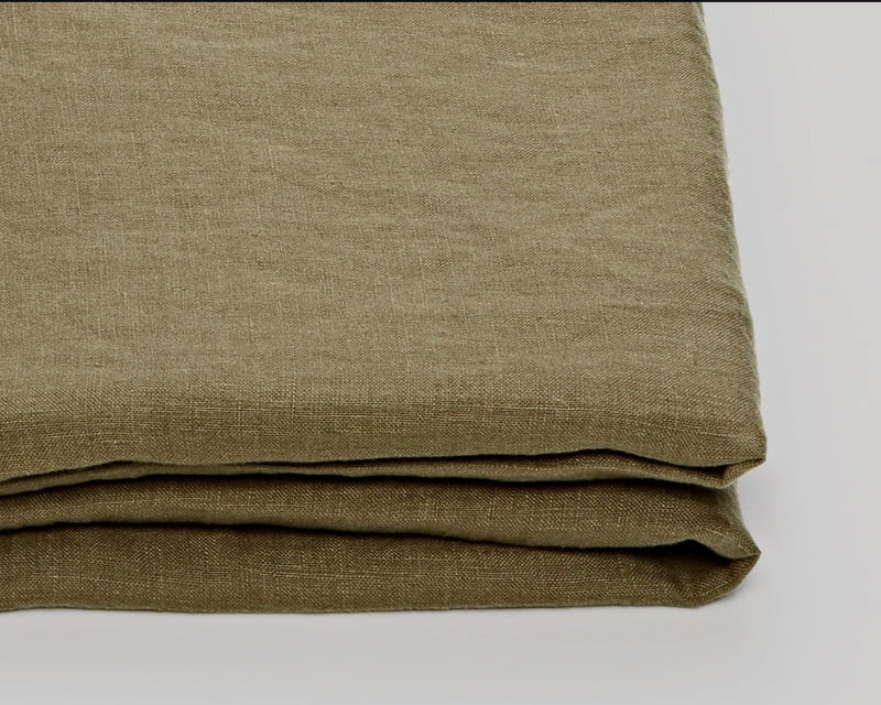 MOSS - PRE-SOFTENED PURE LINEN BEDDING SET