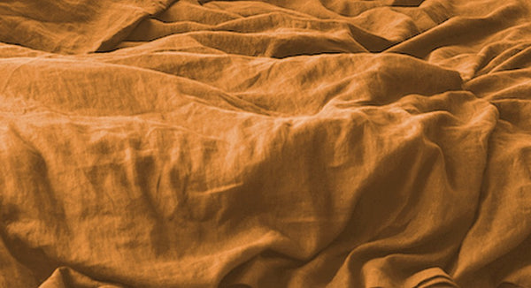 Terracotta Bed Linen Set, Terracotta Linen Bedding Set