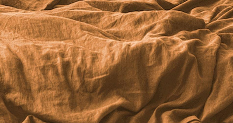 Cinnamon EUROPEAN LINEN Duvet Cover
