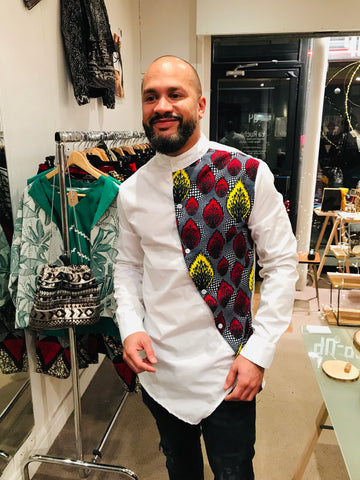 African shirt white
