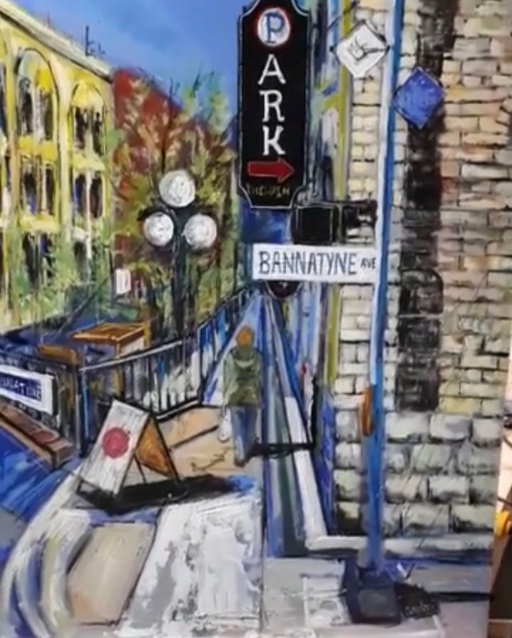 Painting Downtown Winnipeg - Débora Cardaci