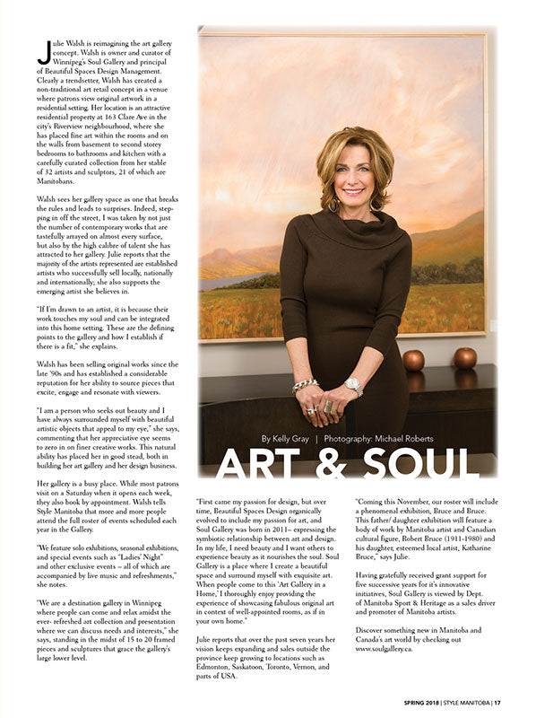 Art & Soul Style MB Profile Article 2017