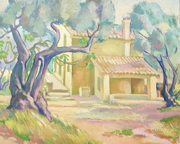 Old Tree with House  C. 1935-39