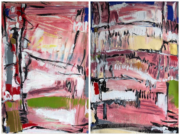 Towards Lighter Spaces I & II  (Diptych)