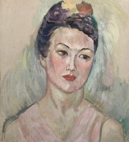 Lady with the Flower in Her Hair  C.1940
