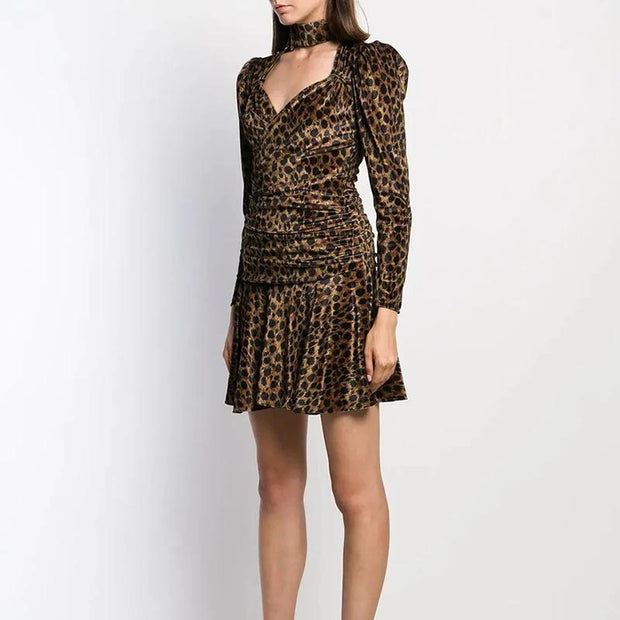 Women's fashion personality leopard skirt