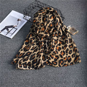 Women's fashion leopard print long scarf