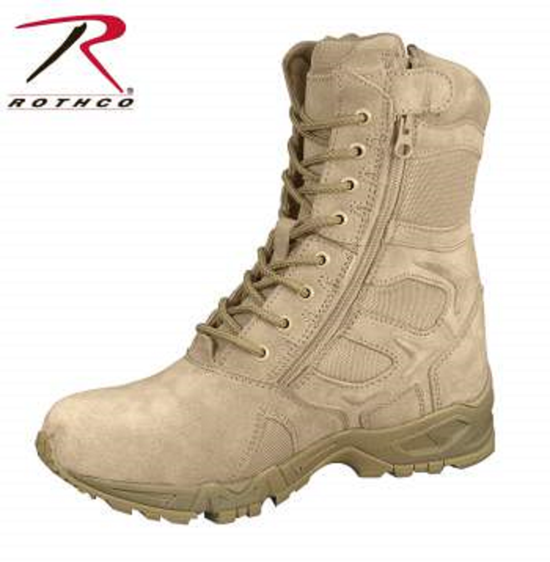 "Rothco Forced Entry 8"" Deployment Boots With Side Zipper Coyote Brown"
