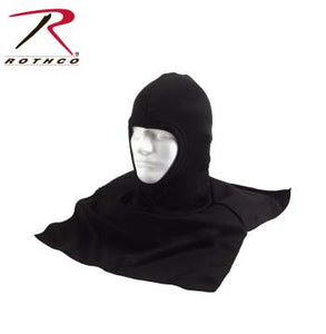 Black Polyester Balaclava With Dickie