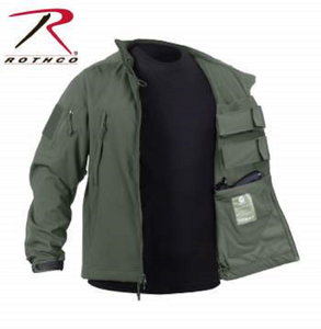 Rothco Tactical Concealed Carry Soft Shell Jacket olive green
