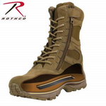 "Load image into Gallery viewer, Rothco Forced Entry 8"" Deployment Boots With Side Zipper Coyote Brown"