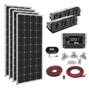 ZAMP SOLAR off grid solar cabin kit/roof mount 680 watt