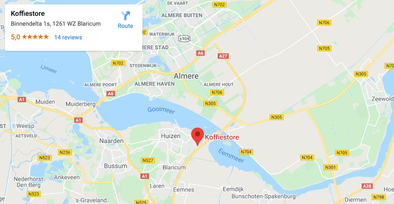 Google Map van Koffiestore in Blaricum
