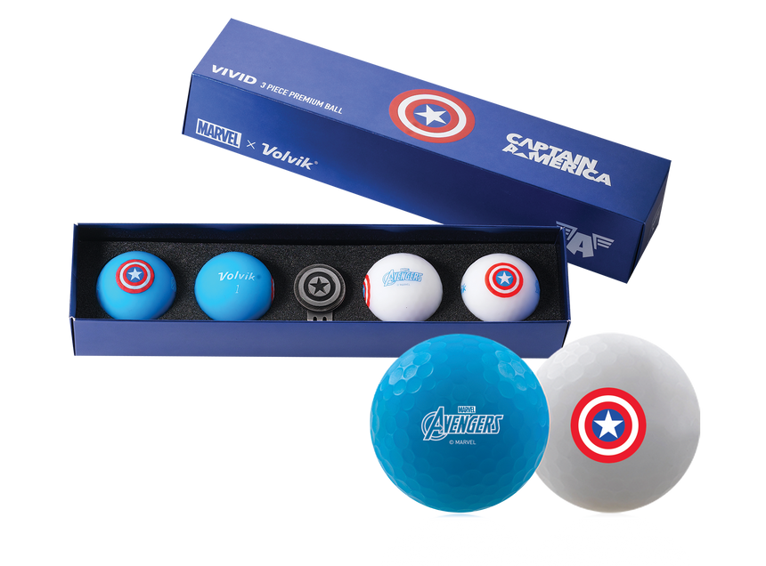 Volvik Captain America 4 Ball Set