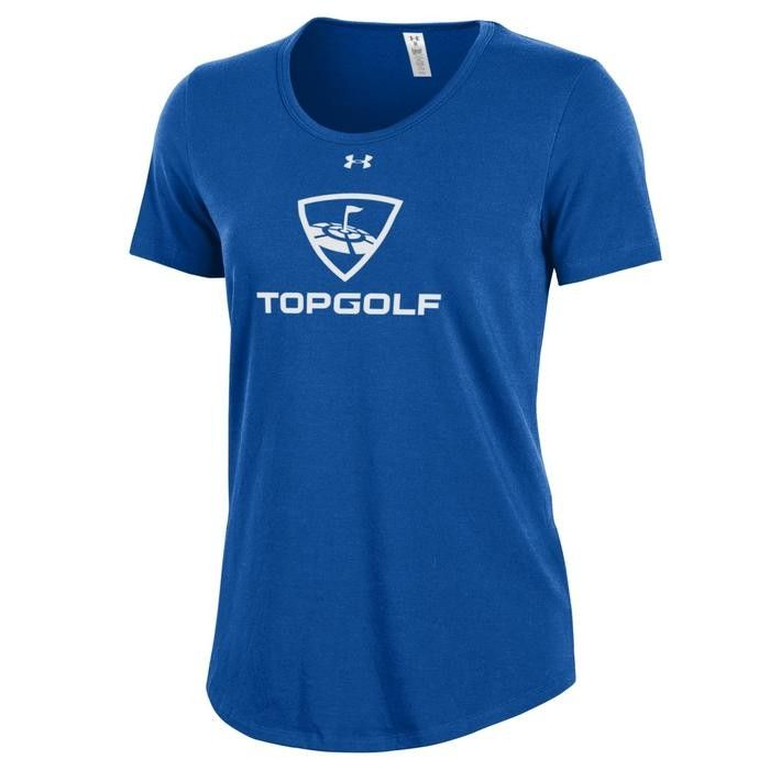 WOMEN'S UA TEE SHIRT, ROYAL BLUE