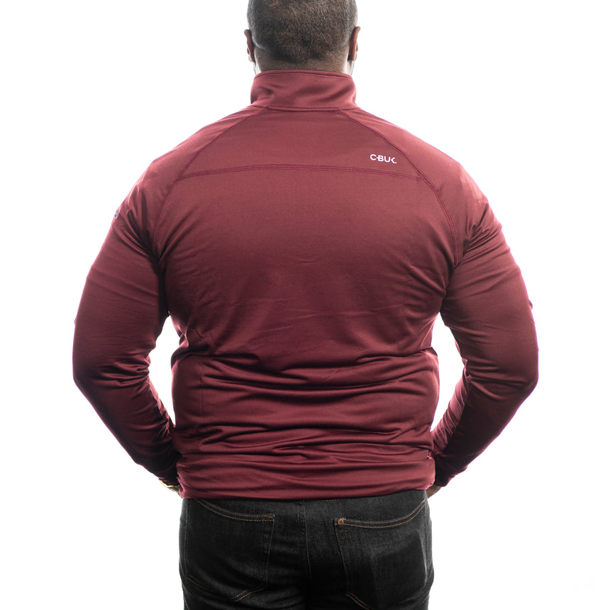 Men's Cutter and Buck Jackson Half-Zip, Bordeaux