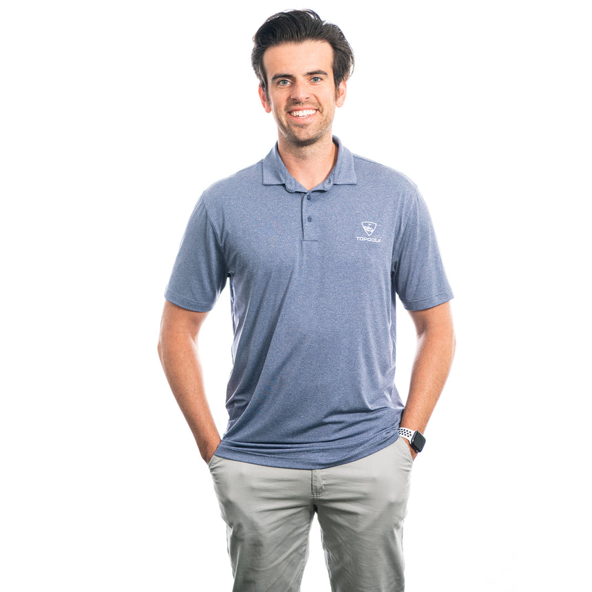 Men's Heathered Core Polo, Navy