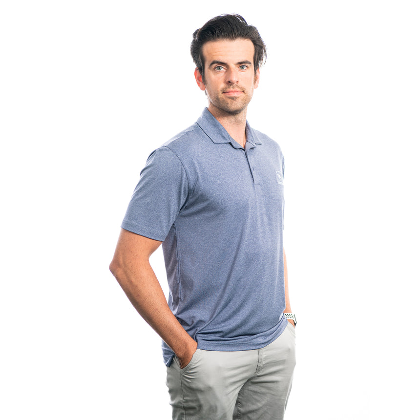 Men's Heathered Core Polo, Blue