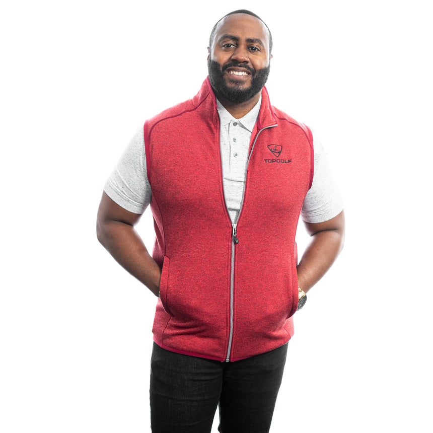 Men's Cutter and Buck Mainsail Vest, Red