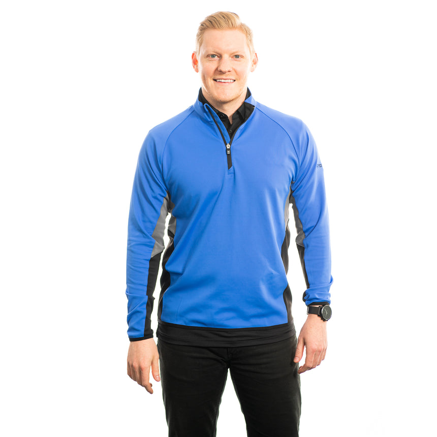 Men's Cutter and Buck Traverse Colorblock Half-Zip, Blue