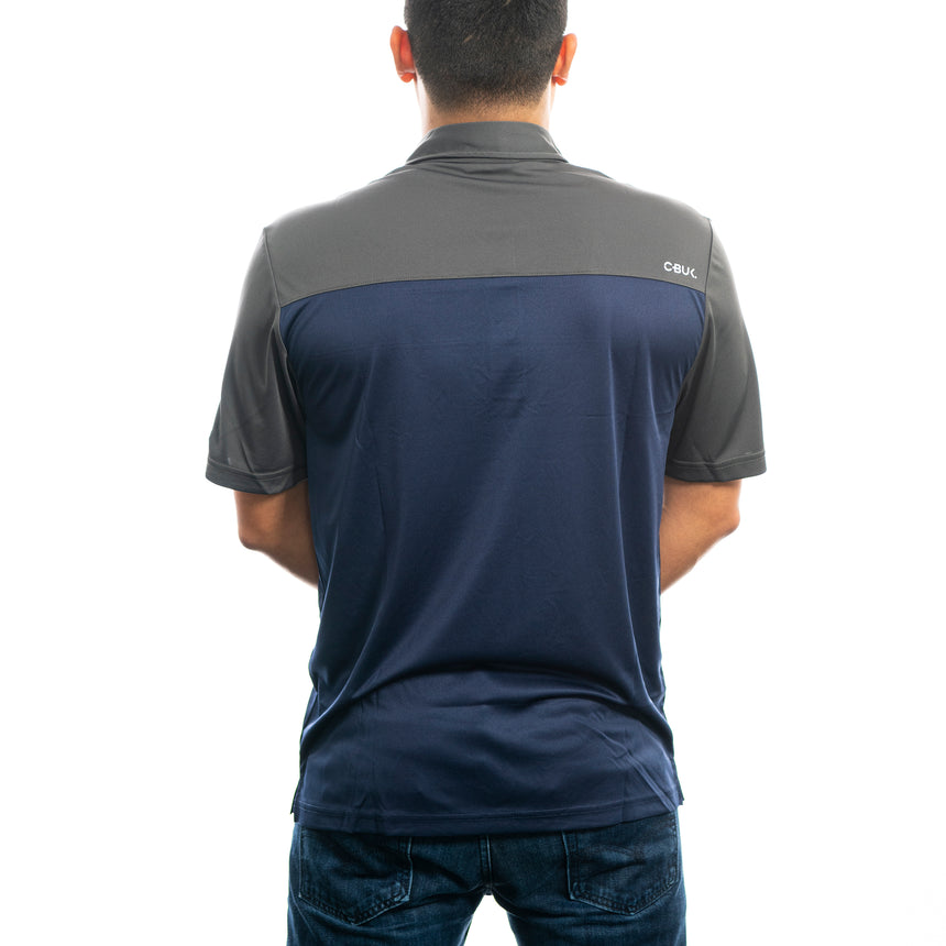 Men's Cutter and Buck Chambers Polo, Link/Navy