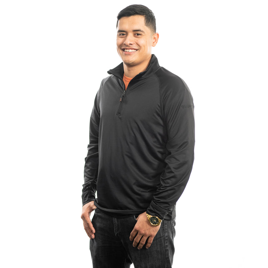 Men's Cutter and Buck Jackson Half-Zip, Black
