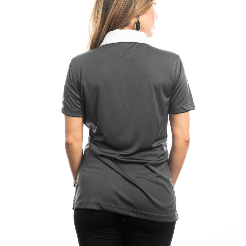 Women's Cutter and Buck Parma Colorblock Polo, Gray/White