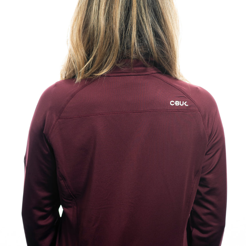 Women's Cutter and Buck Jackson Half-Zip, Bordeaux