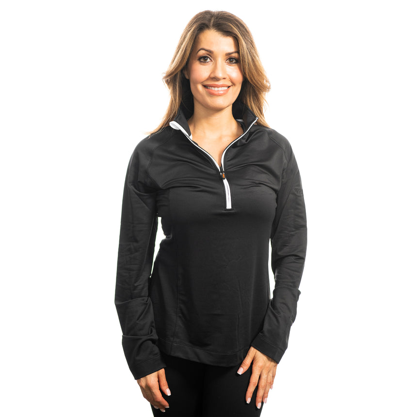 Women's Cutter and Buck Jackson Half-Zip, Black