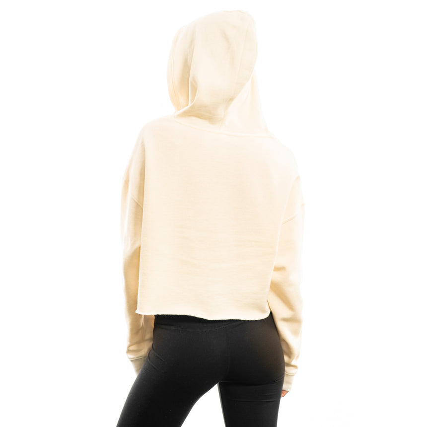 Women's Crop Fleece Hoodie, White