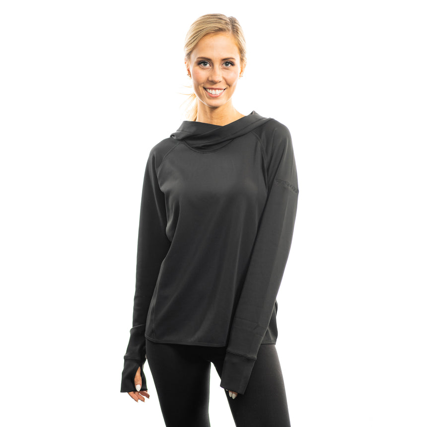 Women's Cutter and Buck Traverse Sweatshirt Hoodie, Black