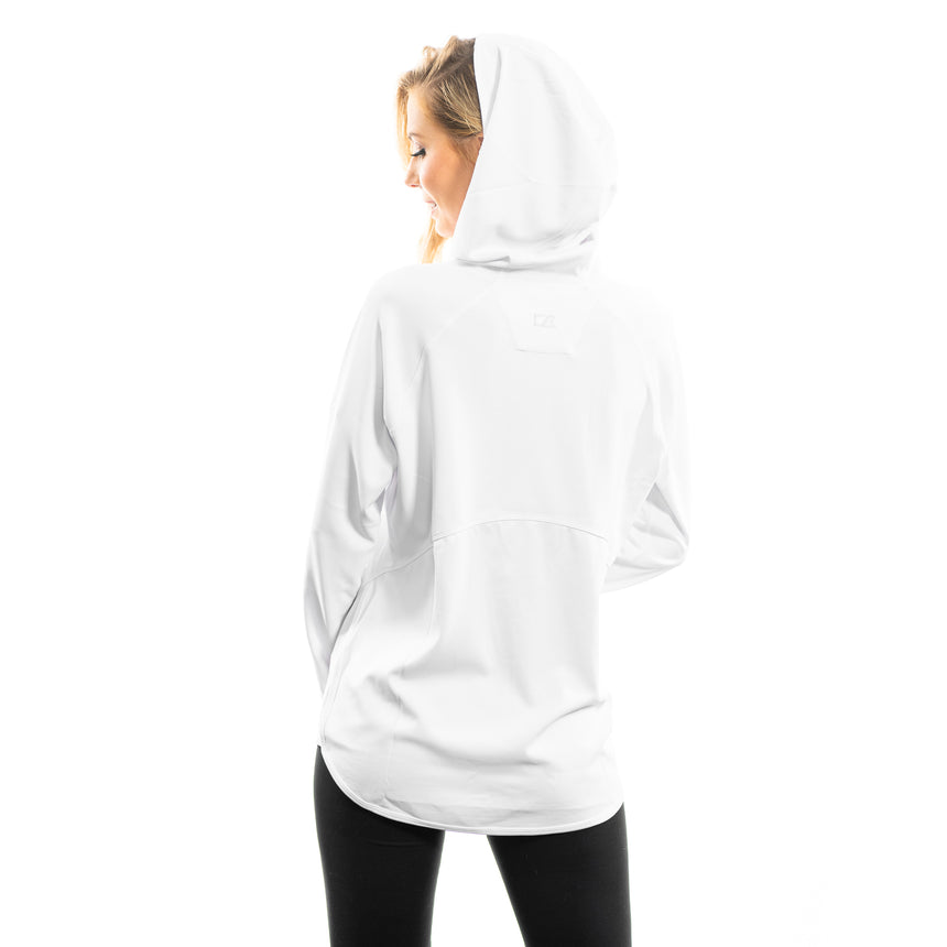 Women's Cutter and Buck Traverse Sweatshirt Hoodie, White