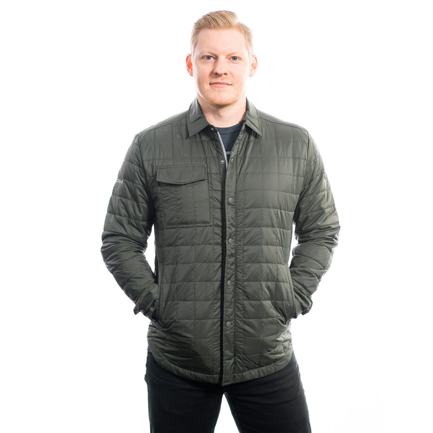 Men's Cutter and Buck Rainier Shirt Jacket, Poplar