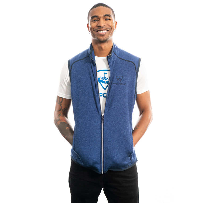 Men's Cutter and Buck Mainsail Vest, Blue