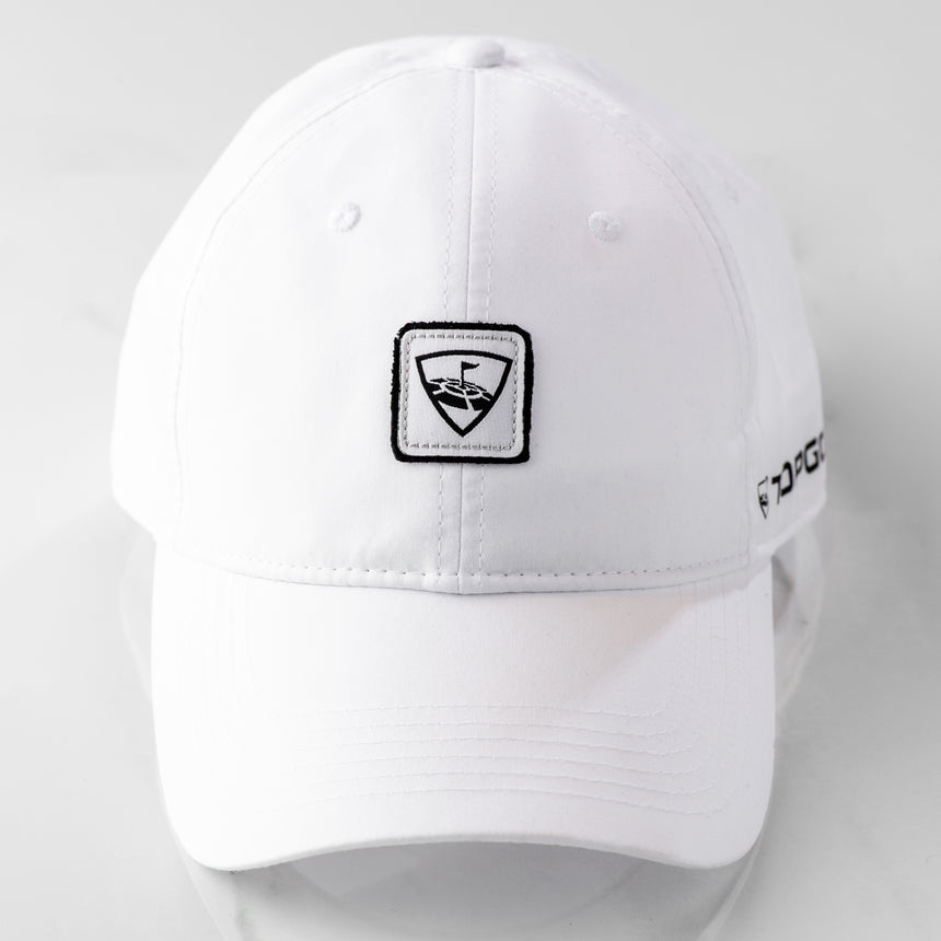 Black Clover Topgolf Poplin White Adjustable Hat