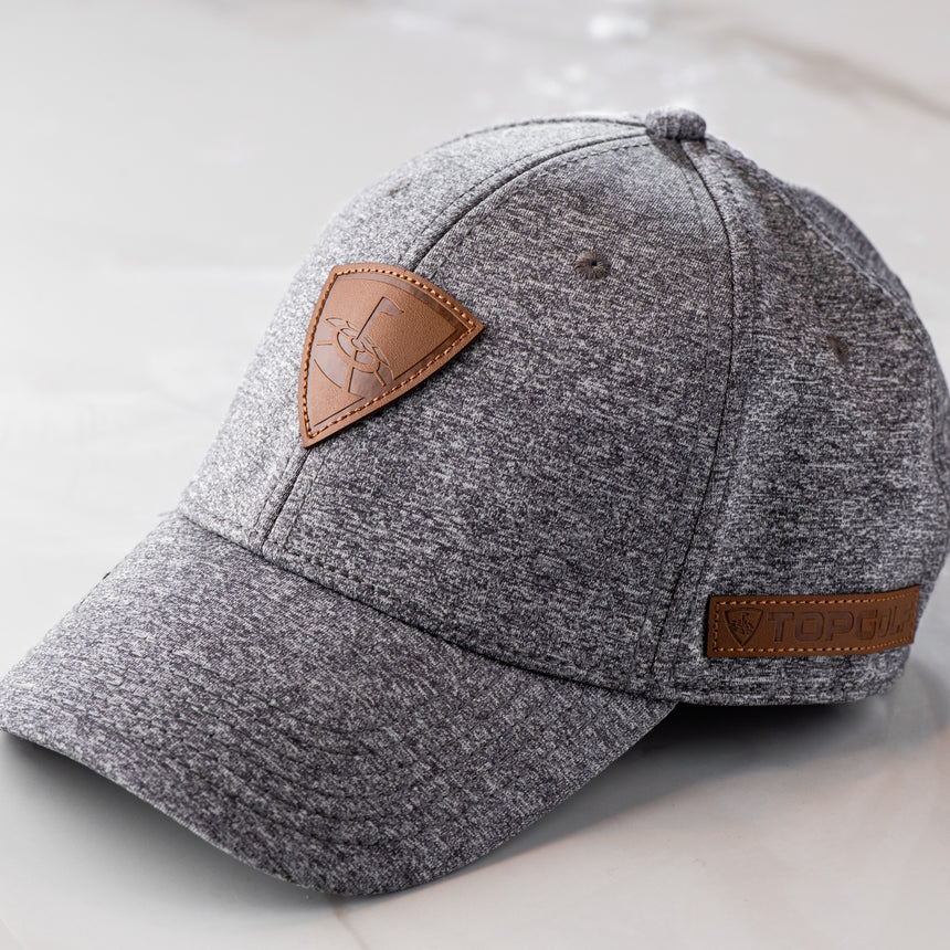 Black Clover Topgolf Heather Gray Adjustable Hat