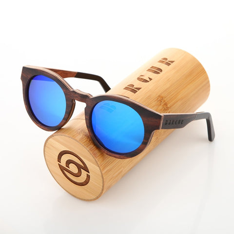 Round Wood Sunglasses