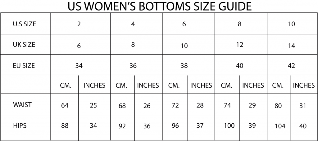 Bottom Size Guide