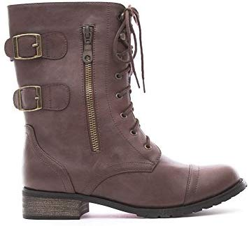 Soho Shoes Women's Lace Up Ankle Boots