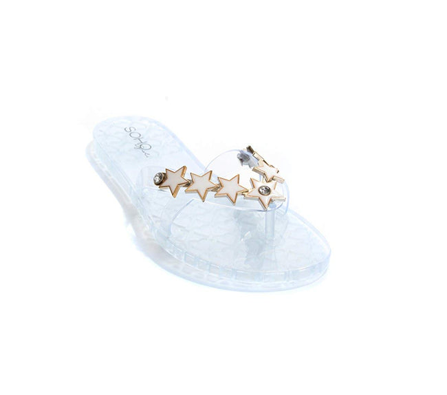 Soho Shoes Women's Star Jelly Flip Flop Thong Sandals