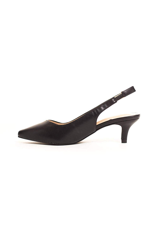 Soho Girls Women's Pointy Toe Kitten Low Heeled Slingback Pump